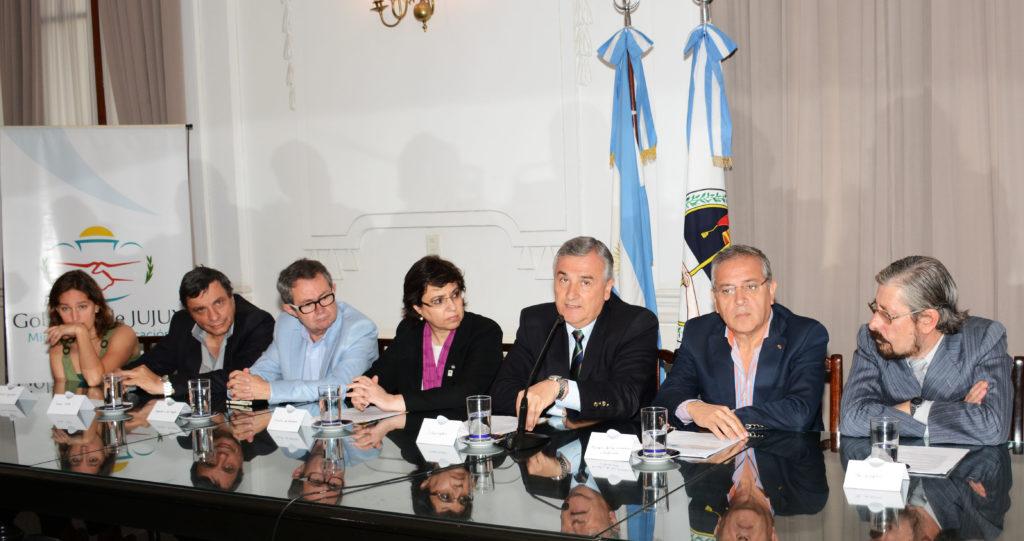 Morales junto a funcionarios provinciales presentaron el III Congreso Internacional de Litio en Jujuy