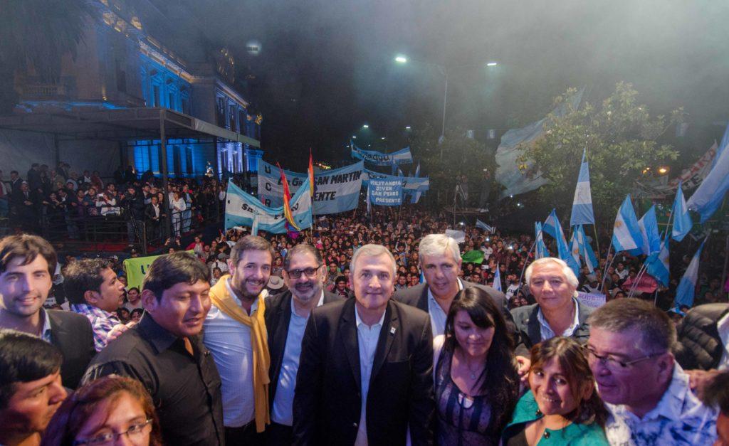 Rotundo apoyo de los jujeños a la convocatoria de Gerardo Morales por la Paz, la Unión y la Libertad Civil.