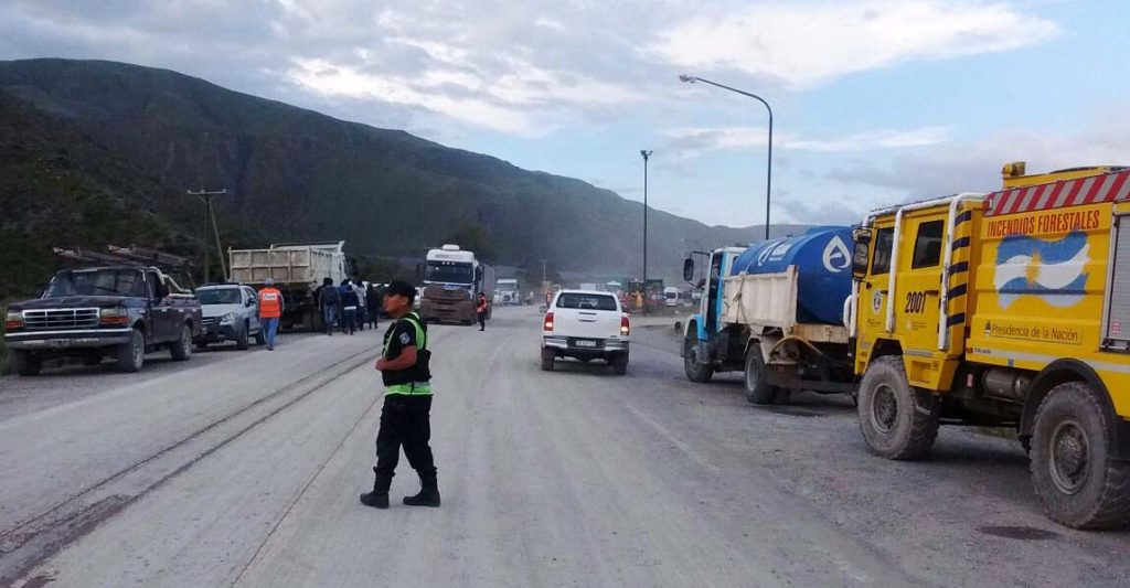 Habilitan de manera temporal tránsito de Ruta Nacional 9