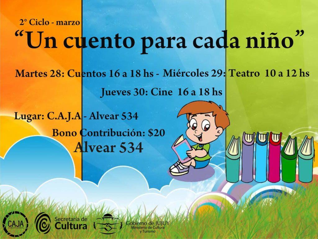 Literatura, teatro y cine para niños y niñas en el CAJA.