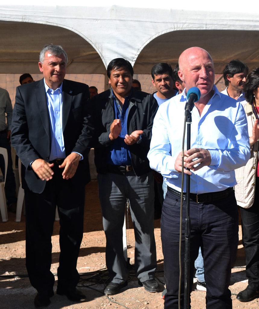 Secretario de Deporte, Educación Física y Recreación de la Nación, Carlos Mac Allister, en su primera visita junto al Gobernador Morales en Humahuaca (imagen de archivo).