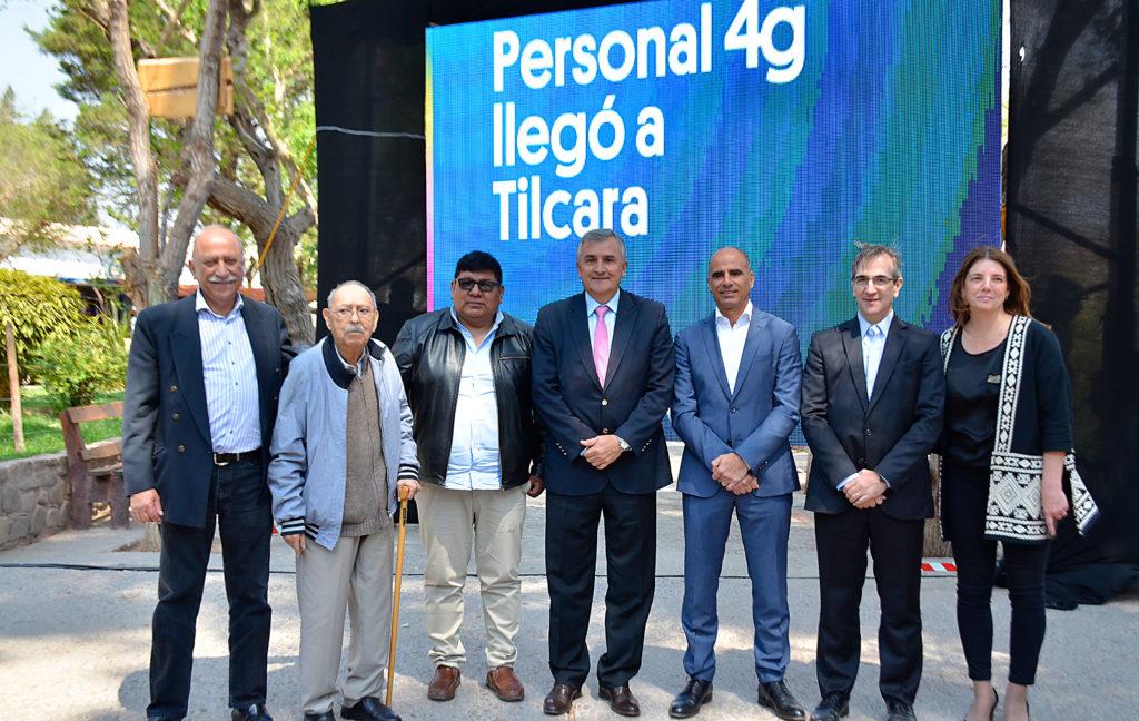 El Gobernador Gerardo Morales inaugurando el 4G en Tilcara.