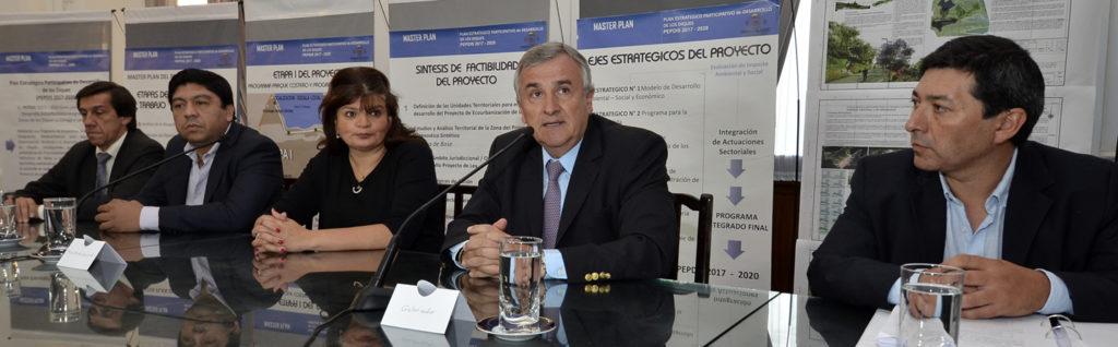 """En el Salón Blanco de la Casa de Gobierno se realizó la presentación del """"Parque Natural de Los Diques""""."""