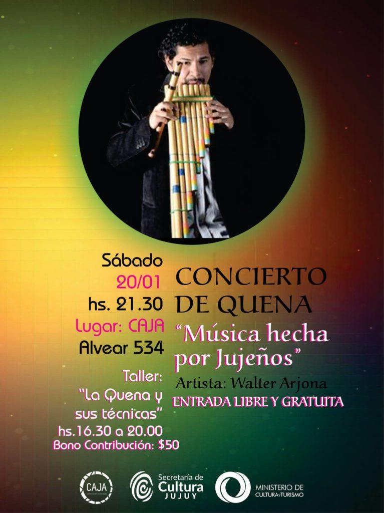 Taller de quena y concierto en CAJA.