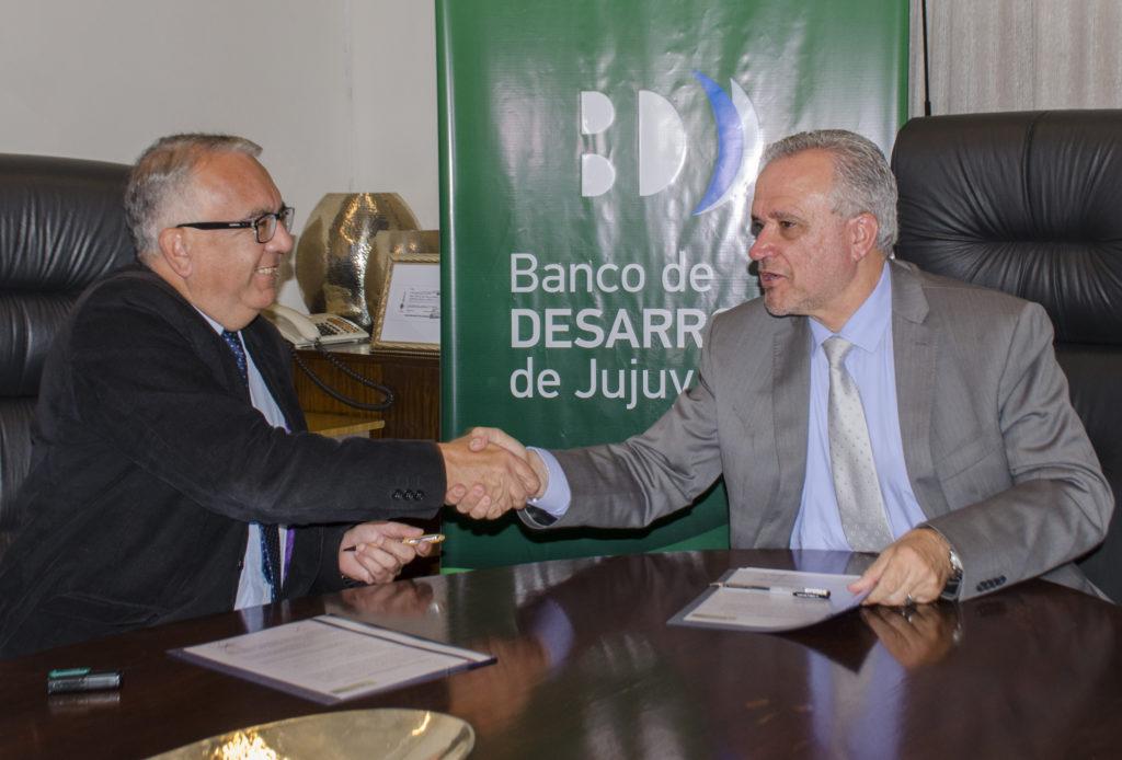 Firma Convenio Banco de Desarrollo de Jujuy y Municipalidad de San Pedro