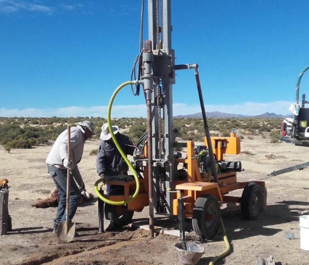 Trabajos para la obtención de agua en Cieneguillas